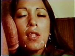 Vintage cutie loves cock and cum in her sweet face