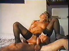 Hairy Bush Blonde Get Pussy Pounded By Big Cock