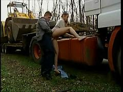 Russian Girl Fucked by the road