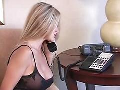 Blonde with big boobs fuck hard her boss