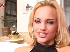Blonde bitch Britney Angel enjoys fisting and pissing