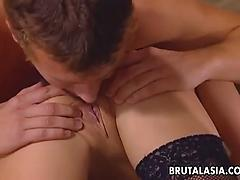 Horny couple please each other orally and enjoy rim jobs