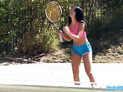 Adriana Chechik Plays Tennis With His Penis